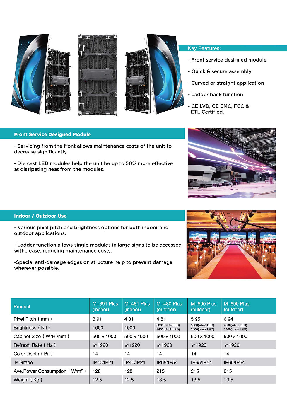 LED screen brochure catalog
