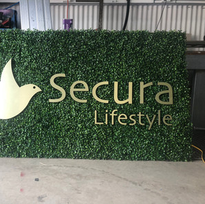 routed letters custom signage reception sign