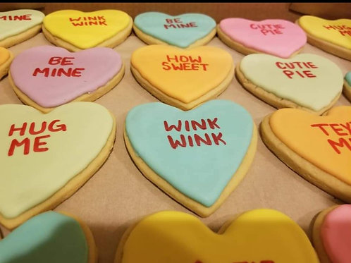 Dozen Conversation Heart Cookies