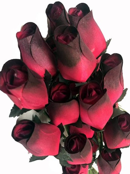 Wooden Roses Bouquet 1 Dz