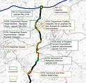 Completed and planned schemes on the A35