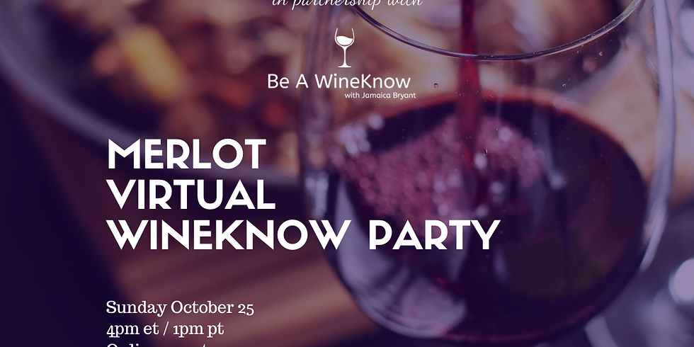 Live with Portia & Lola Presents: Merlot WineKnow Party with Jamaica Bryant