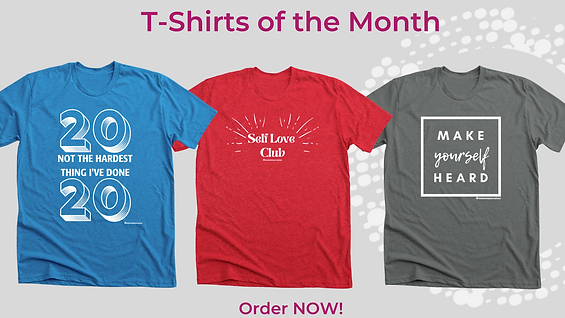 T-Shirt of the month grafic for website