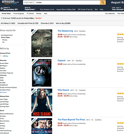 The Redeeming number 1 thriller on Prime UK