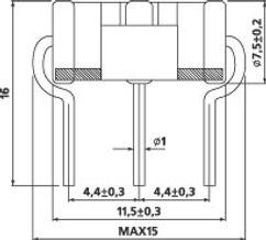 Размеры 3х полюсного грозоразрядника