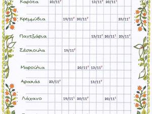 Ημερολόγιο Σποράς
