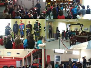 Οι μικροί εθελοντές πυροσβέστες στο πυροσβεστικό μουσείο
