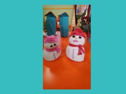 Χιονάνθρωποι από καλτσάκια