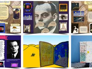 Ο συγγραφέας: Δημιουργώντας αφίσες για τη ζωή του Antoine de Saint-Exupéry