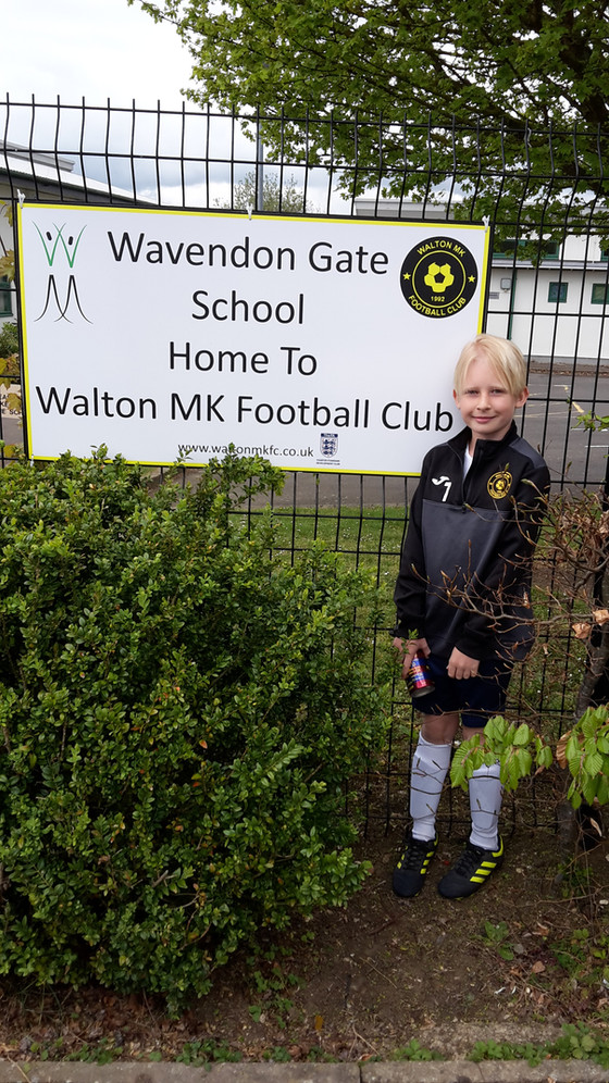 GREAT PARTNERSHIP WITH WAVENDON SCHOOL AND WALTON MK FC