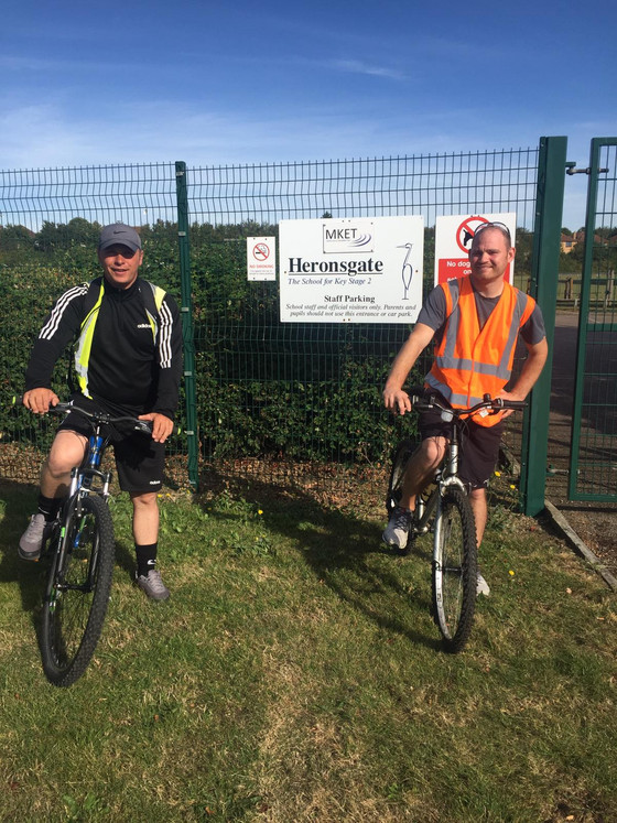 Walton MK FC U9's Warriors Manager & Coach do a sponsored 50+ mile bike ride for the team an