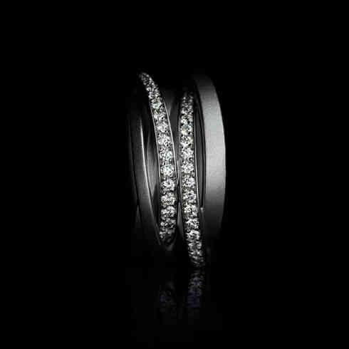 Ring Saturn | platinum diamonds