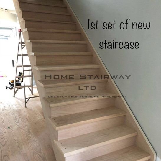 L) New staircase
