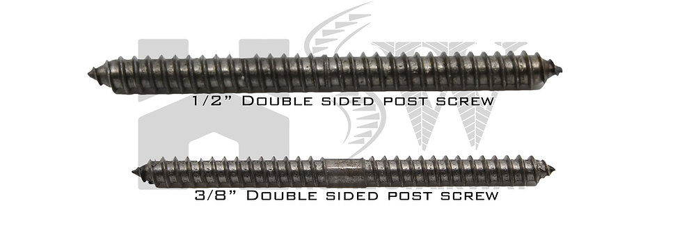 Double sided post screws