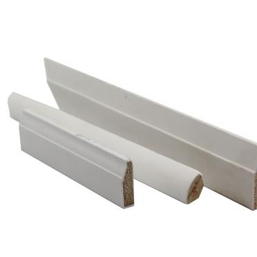Primed white mouldings