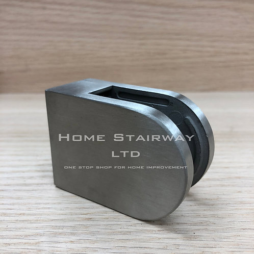 Glass clip large round (flat) SS316