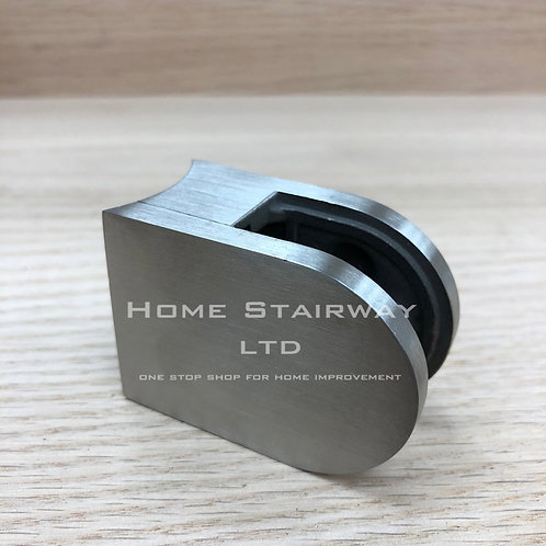 Glass clip small round (42.4) SS316