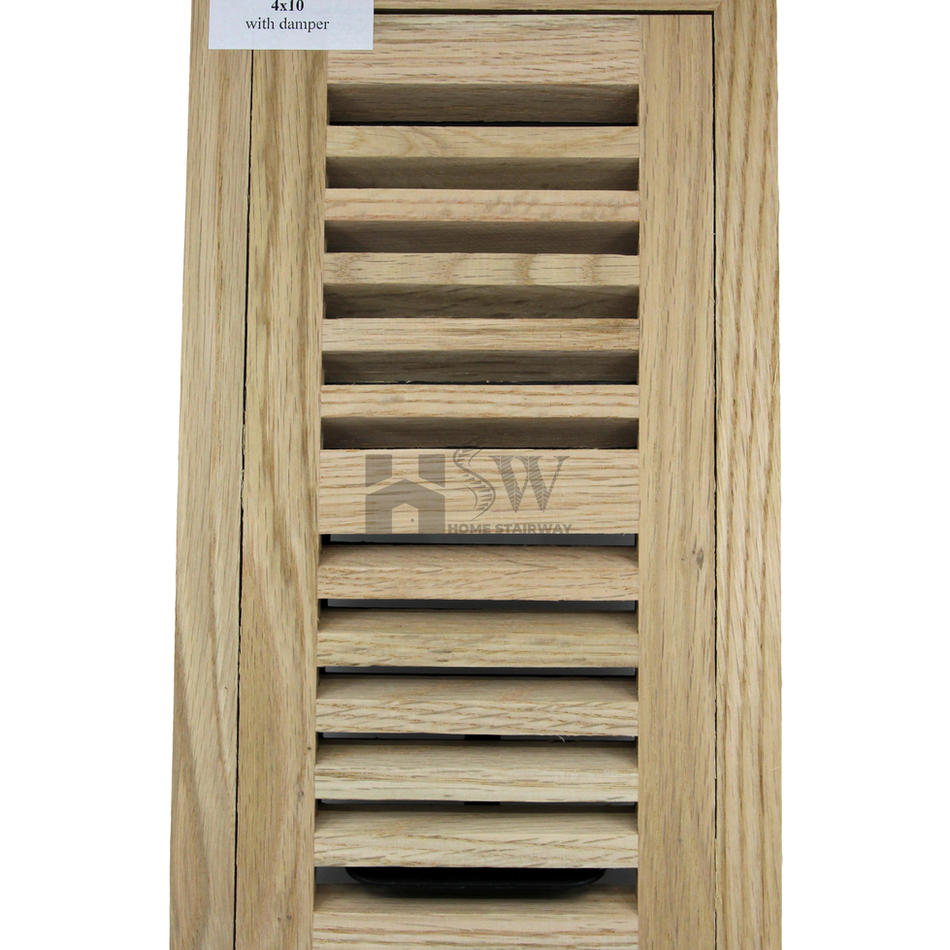 4x10 Oak floor vent flush mount