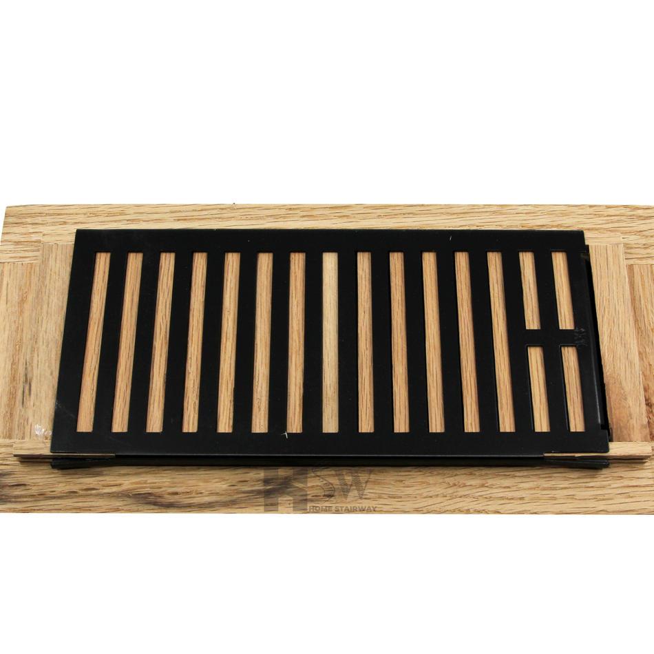 4x10 Oak floor vent cover