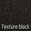 Powder coated colour texture black