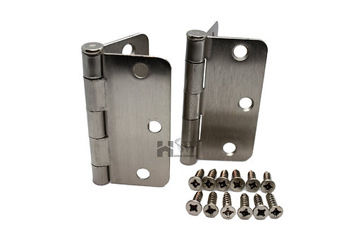 "3"" Hinges with screws (Pair of 2) 1/4"" Radius"