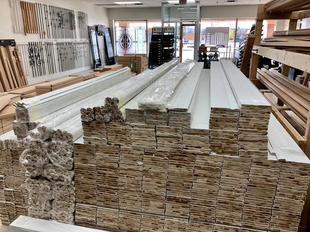 Baseboard, casing, trim, doorstop, quarter round   Home Stairway