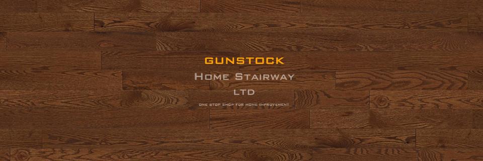 Home Stairway- signature oak- Gunstock