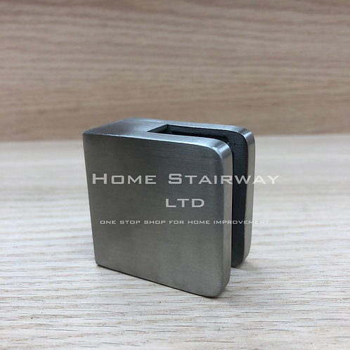 Glass clips small square (flat) SS316
