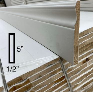 """[OUT OF STOCK] 5"""" Colonial baseboard (wood)"""