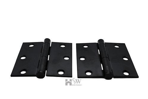 "3"" Square Hinges with screws (Pair of 2)"