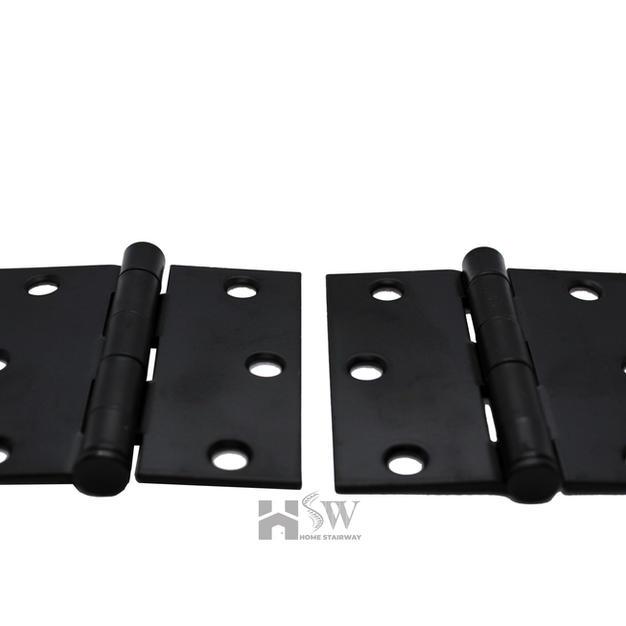 Square Black Hinges with screws