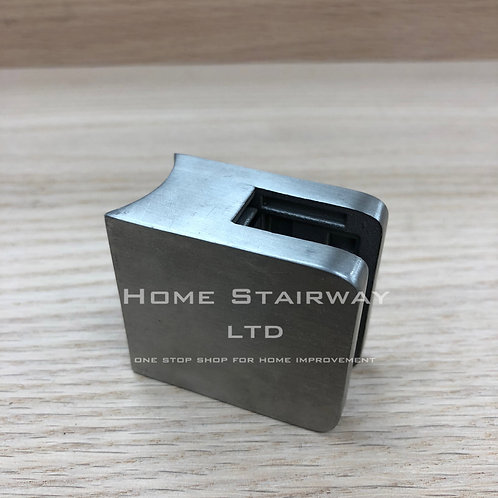 Glass clip large square (42.4) SS316