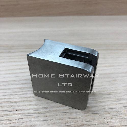 Glass clip small square (42.4) SS316