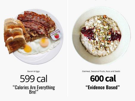 Numarul caloriilor vs. calitatea caloriilor. Care sunt mai importante când vine vorba de slabire?