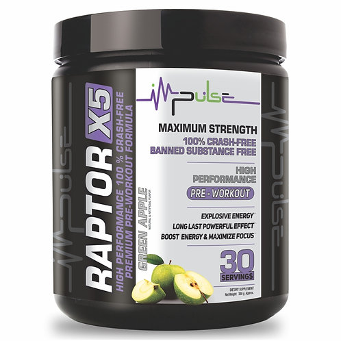 RAPTOR X5 PRE-WORKOUT APPLE