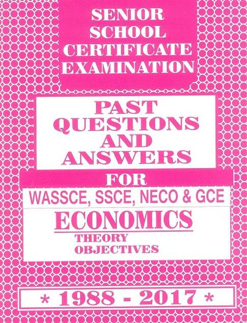 TONAD SSCE ECONOMICS PAST QUESTIONS AND ANSWERS | Zisona Academic Hub