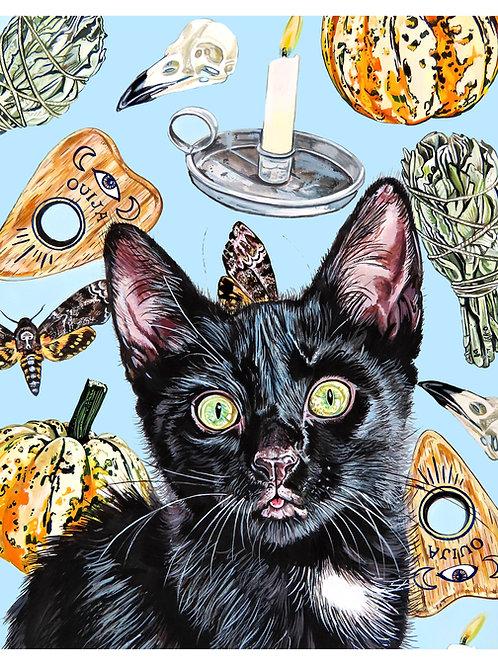 Spooky Cat Print (8 x 10)