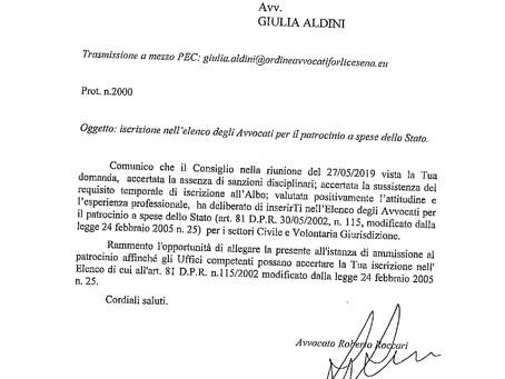 """PATROCINIO A SPESE DELLO STATO """"Gratuito Patrocinio"""""""