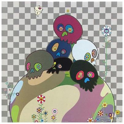 Takeshi Murakami 'Skulls Rock'