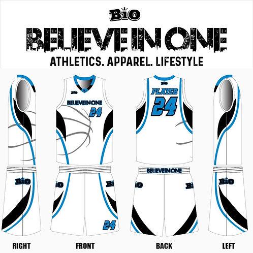 2019-20 BiO Basketball Uniform (White)