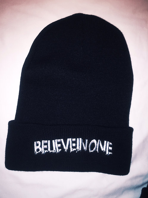 Believe In One (City Text) Knit Cap