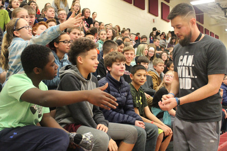 "Megeath Talks ""Growth Mindset"" To  WCMS Students"