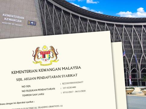 Pendaftaran Dengan Kementerian Kewangan Akan Ditutup