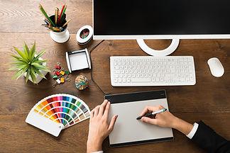Male Designer Using Digital Graphic Tabl