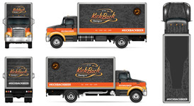 Beer Delivery Truck Wrap