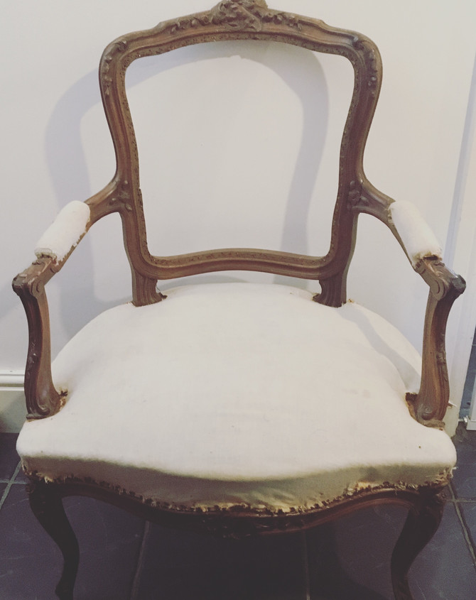 Re-Upholstering a French Chair - Part 1, Deconstruction and Stripping