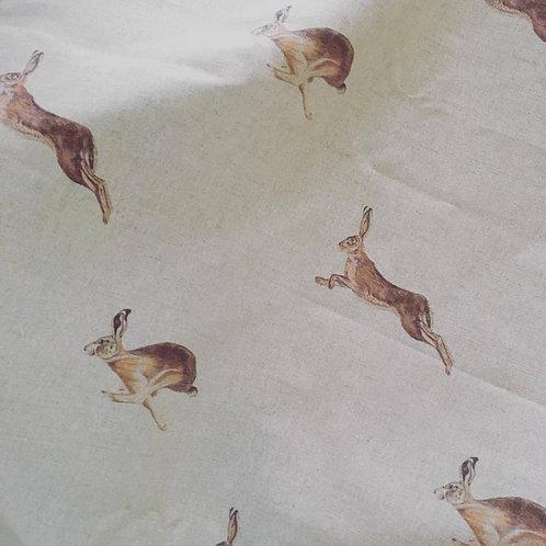 Running Hare - on Stone Linen