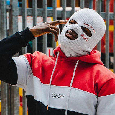 ONExU Unisex Panel Hoodie with ski mask