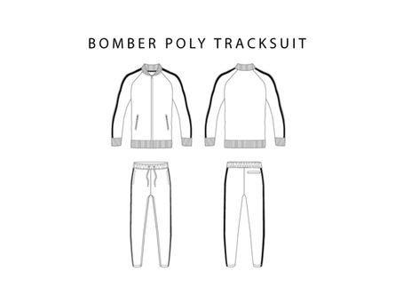 Bomber Poly Tracksuit