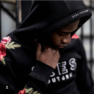 Aces Couture Rose Hoodie